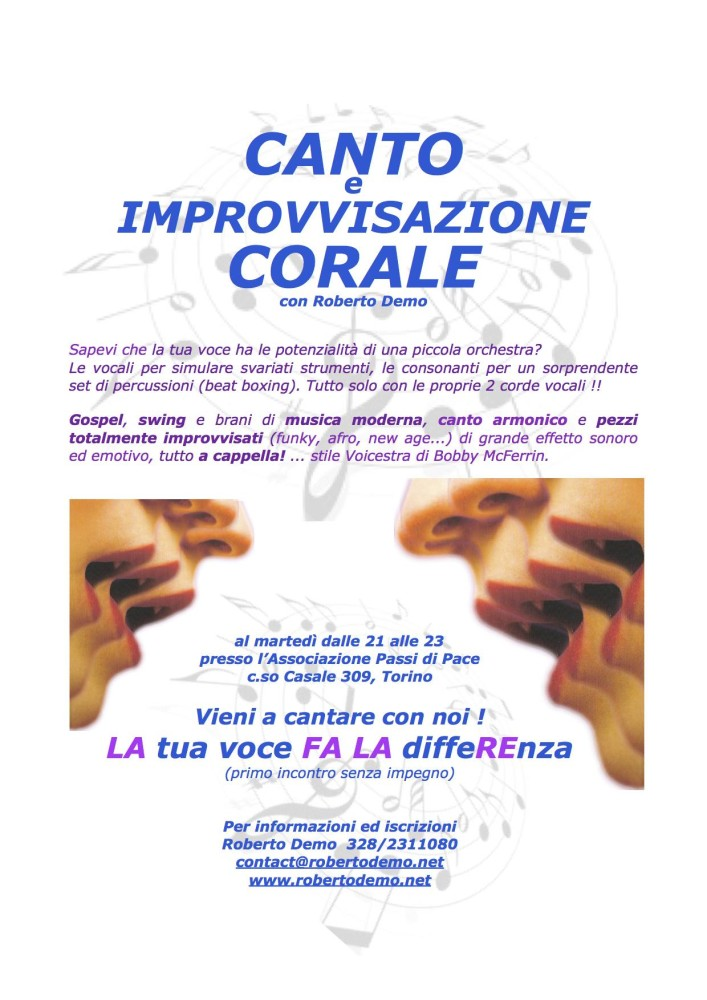 Canto Corale PdP 2017-18 spot