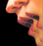 bocche su nero